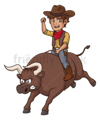 Cowboy doing rodeo. PNG - JPG and vector EPS (infinitely scalable).