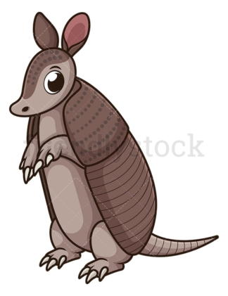 Armadillo standing. PNG - JPG and vector EPS (infinitely scalable).