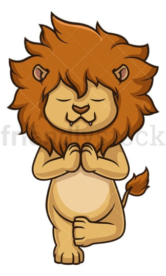 Lion meditating. PNG - JPG and vector EPS (infinitely scalable).