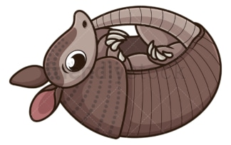Armadillo laying on its back. PNG - JPG and vector EPS (infinitely scalable).