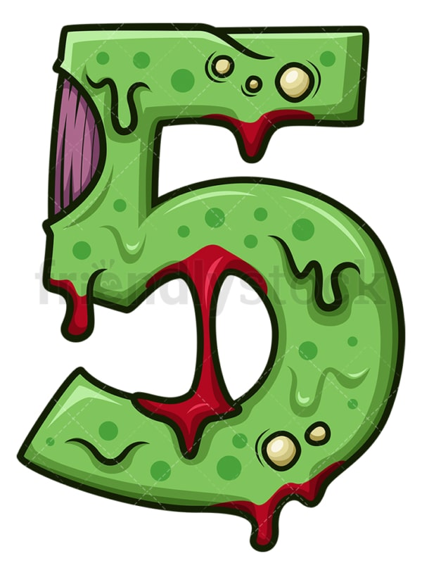 Zombie number 5. PNG - JPG and vector EPS file formats (infinitely scalable). Image isolated on transparent background.