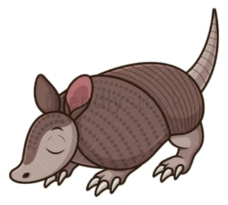 Armadillo sniffing ground. PNG - JPG and vector EPS (infinitely scalable).