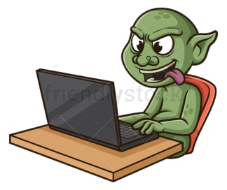 Internet troll. PNG - JPG and vector EPS file formats (infinitely scalable). Image isolated on transparent background.