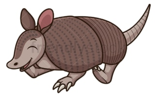 Happy armadillo. PNG - JPG and vector EPS (infinitely scalable).