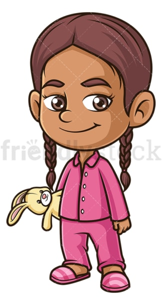 Hispanic girl wearing ]ammies. PNG - JPG and vector EPS (infinitely scalable).