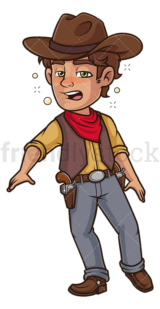 Drunk cowboy. PNG - JPG and vector EPS (infinitely scalable).
