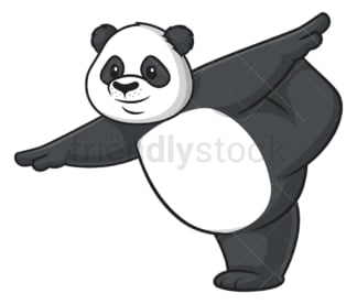 Panda doing yoga. PNG - JPG and vector EPS (infinitely scalable).