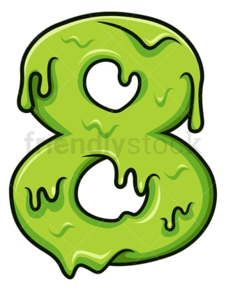 Slime number 8. PNG - JPG and vector EPS file formats (infinitely scalable). Image isolated on transparent background.