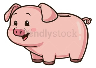 Happy piggy bank. PNG - JPG and vector EPS (infinitely scalable).