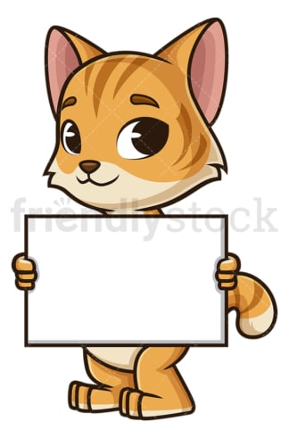 Friendly cat empty sign. PNG - JPG and vector EPS (infinitely scalable).