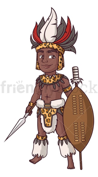 King shaka zulu. PNG - JPG and vector EPS (infinitely scalable).