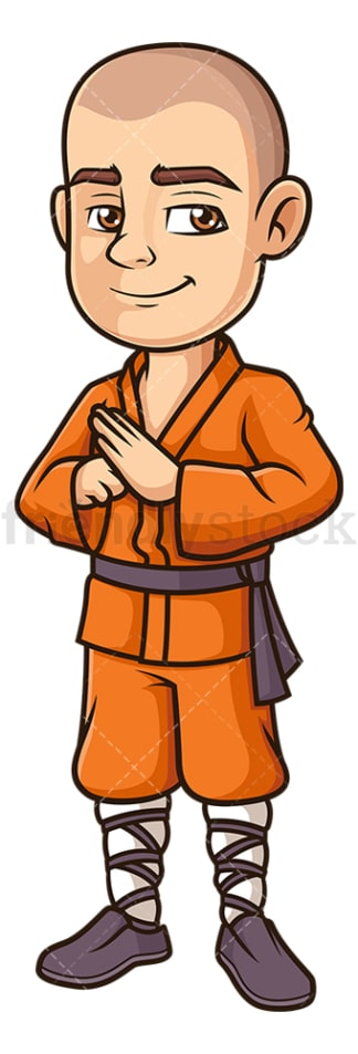 Shaolin monk greeting. PNG - JPG and vector EPS (infinitely scalable).
