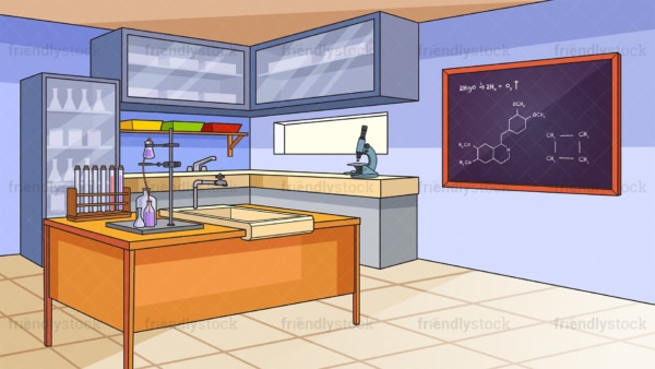 Science laboratory background in 16:9 aspect ratio. PNG - JPG and vector EPS file formats (infinitely scalable).