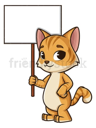 Friendly cat blank sign. PNG - JPG and vector EPS (infinitely scalable).