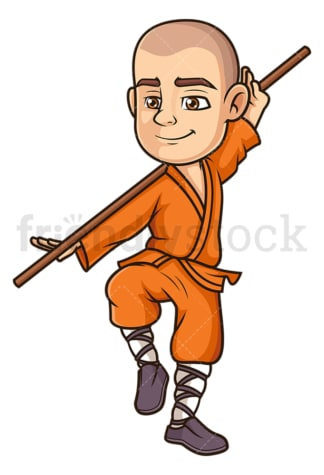 Shaolin monk fighter. PNG - JPG and vector EPS (infinitely scalable).
