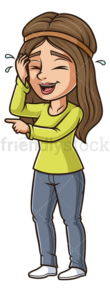 Woman cracking up. PNG - JPG and vector EPS (infinitely scalable).