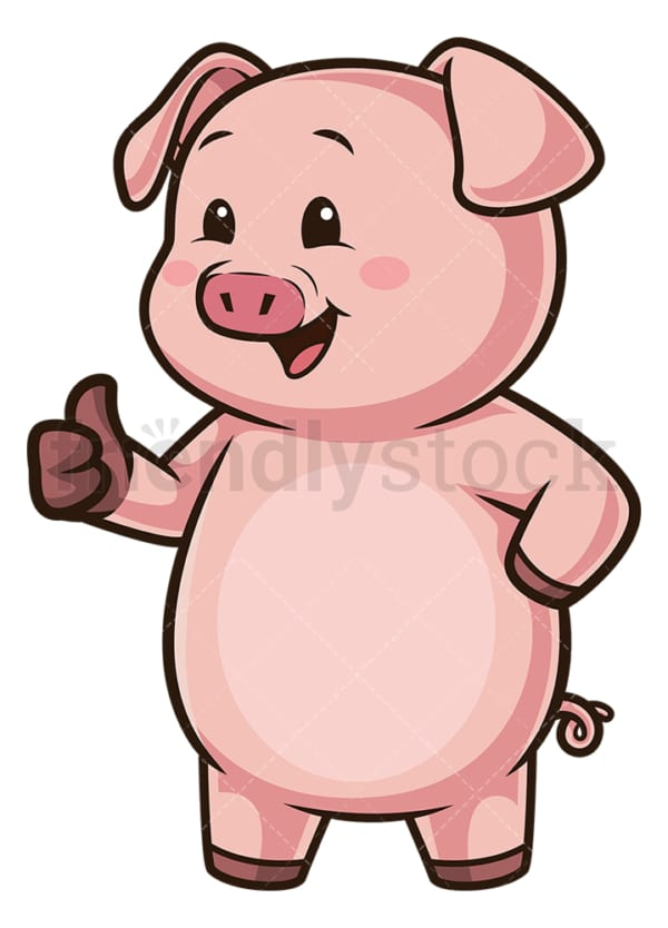 Piggy bank thumbs up. PNG - JPG and vector EPS (infinitely scalable).
