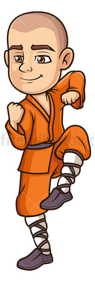 Shaolin monk kung fu. PNG - JPG and vector EPS (infinitely scalable).
