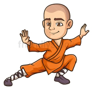 Shaolin monk training. PNG - JPG and vector EPS (infinitely scalable).