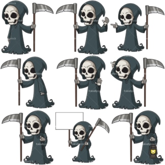 Grim reaper. PNG - JPG and infinitely scalable vector EPS - on white or transparent background.