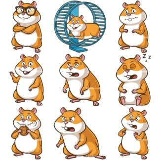 Hamster mascot character. PNG - JPG and infinitely scalable vector EPS - on white or transparent background.