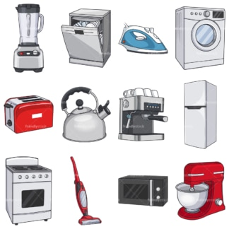 Home appliances. PNG - JPG and vector EPS file formats (infinitely scalable). Images isolated on transparent background.