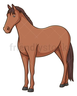 Horse standing on all fours. PNG - JPG and vector EPS (infinitely scalable).