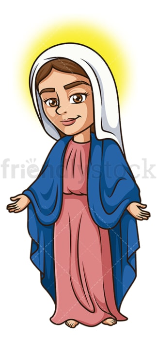 Mary mother of jesus. PNG - JPG and vector EPS file formats (infinitely scalable). Image isolated on transparent background.
