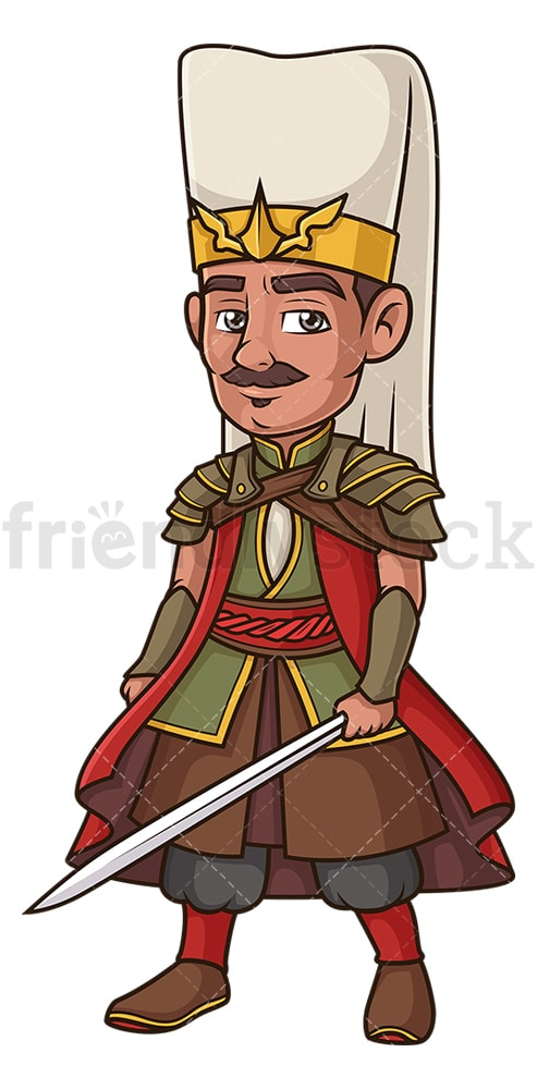 Ottoman janissary. PNG - JPG and vector EPS (infinitely scalable).
