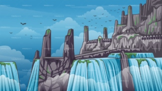 Valhalla background in 16:9 aspect ratio. PNG - JPG and vector EPS file formats (infinitely scalable).