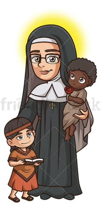 Saint katharine drexel. PNG - JPG and vector EPS file formats (infinitely scalable). Image isolated on transparent background.