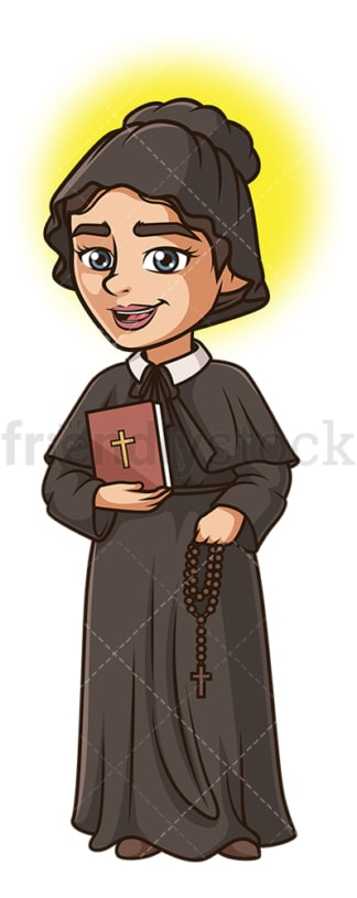 Saint elizabeth ann seton. PNG - JPG and vector EPS file formats (infinitely scalable). Image isolated on transparent background.