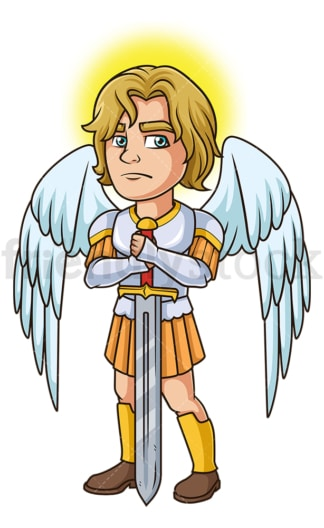 Saint michael the archangel. PNG - JPG and vector EPS file formats (infinitely scalable). Image isolated on transparent background.