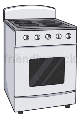 Stove with oven. PNG - JPG and vector EPS file formats (infinitely scalable). Image isolated on transparent background.
