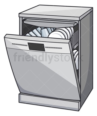 Dish washer. PNG - JPG and vector EPS file formats (infinitely scalable). Image isolated on transparent background.