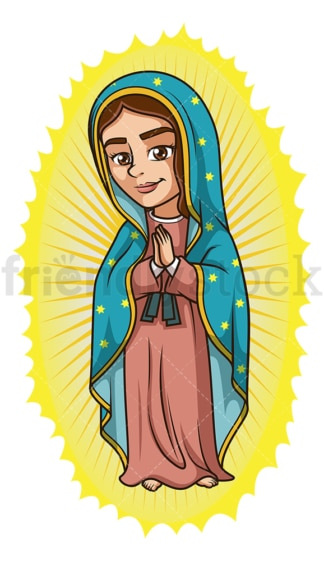 Our lady of guadalupe. PNG - JPG and vector EPS file formats (infinitely scalable). Image isolated on transparent background.