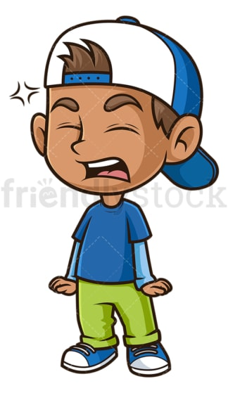 Angry hispanic boy. PNG - JPG and vector EPS (infinitely scalable).