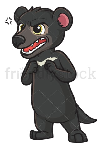 Angry tasmanian devil. PNG - JPG and vector EPS (infinitely scalable).