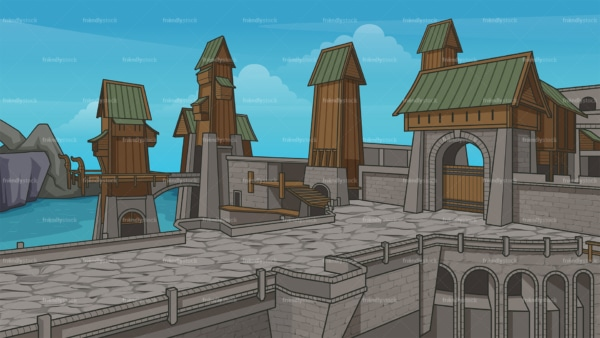 Asgard background in 16:9 aspect ratio. PNG - JPG and vector EPS file formats (infinitely scalable).