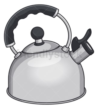 Electric kettle. PNG - JPG and vector EPS file formats (infinitely scalable). Image isolated on transparent background.