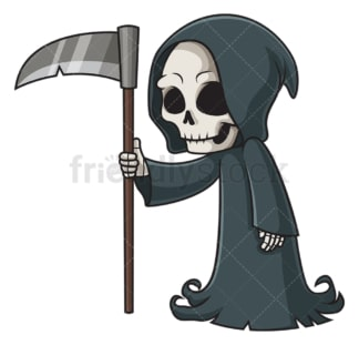 Grim reaper looking sideways. PNG - JPG and vector EPS (infinitely scalable).