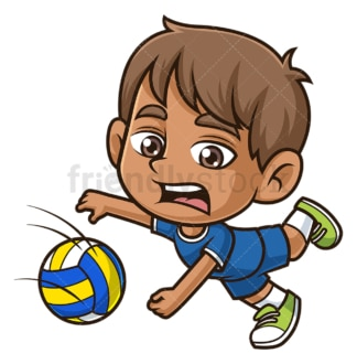 Hispanic boy playing volleyball. PNG - JPG and vector EPS (infinitely scalable).
