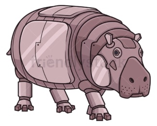Mechanical hippo robot. PNG - JPG and vector EPS (infinitely scalable).
