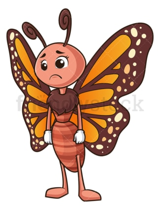 Sad butterfly. PNG - JPG and vector EPS (infinitely scalable).