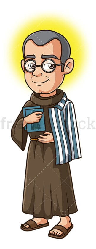 Saint maximilian kolbe. PNG - JPG and vector EPS file formats (infinitely scalable). Image isolated on transparent background.