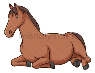 Horse lying down. PNG - JPG and vector EPS (infinitely scalable).