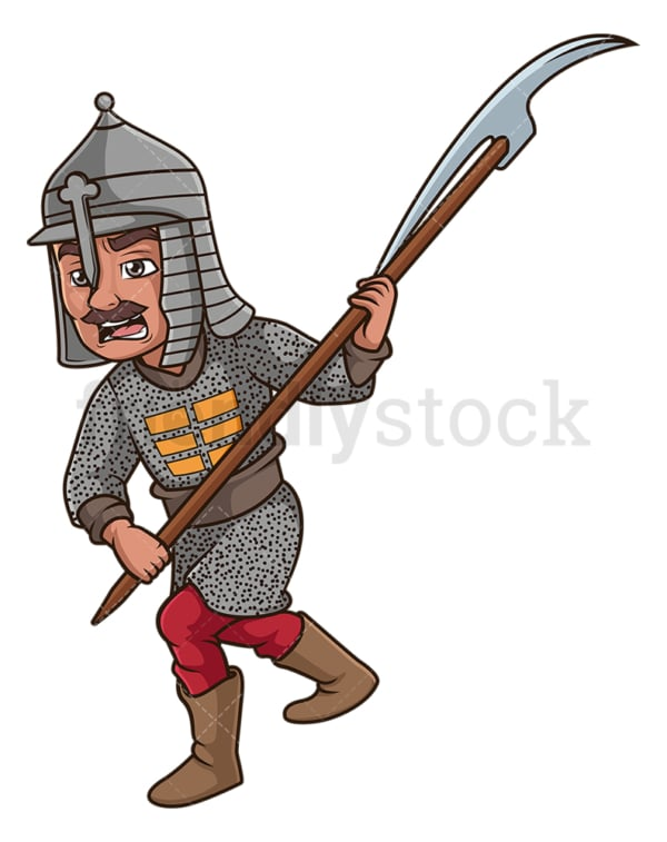 Ottoman turk pikeman. PNG - JPG and vector EPS (infinitely scalable).