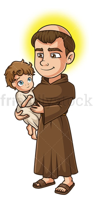 Saint anthony. PNG - JPG and vector EPS file formats (infinitely scalable). Image isolated on transparent background.