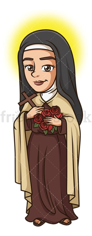 Saint therese of lisieux. PNG - JPG and vector EPS file formats (infinitely scalable). Image isolated on transparent background.