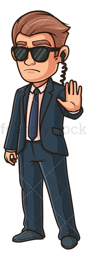 Special agent stop gesture. PNG - JPG and vector EPS (infinitely scalable).